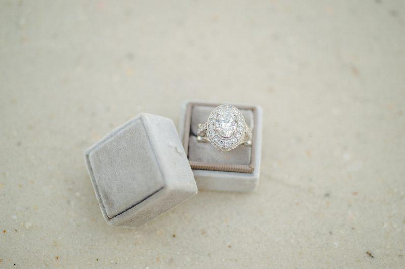 large diamond vintage engagement ring in sarasota