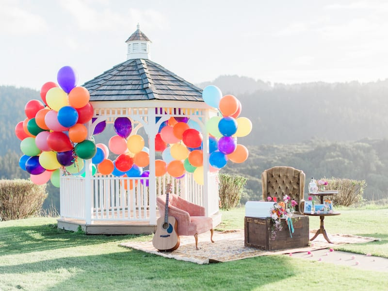 Marriage Proposal with gazebo in San Francisco