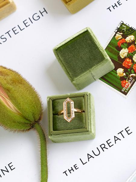 spring engagement pastel color box