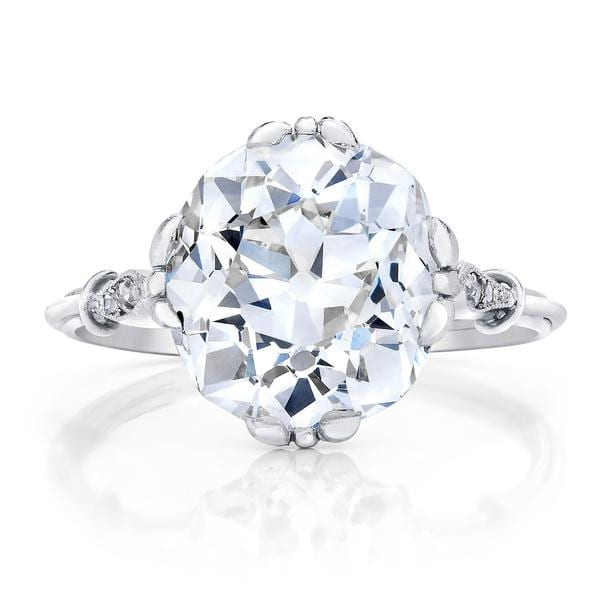 Concierge Cushion Cut 3 Stone Engagement Ring