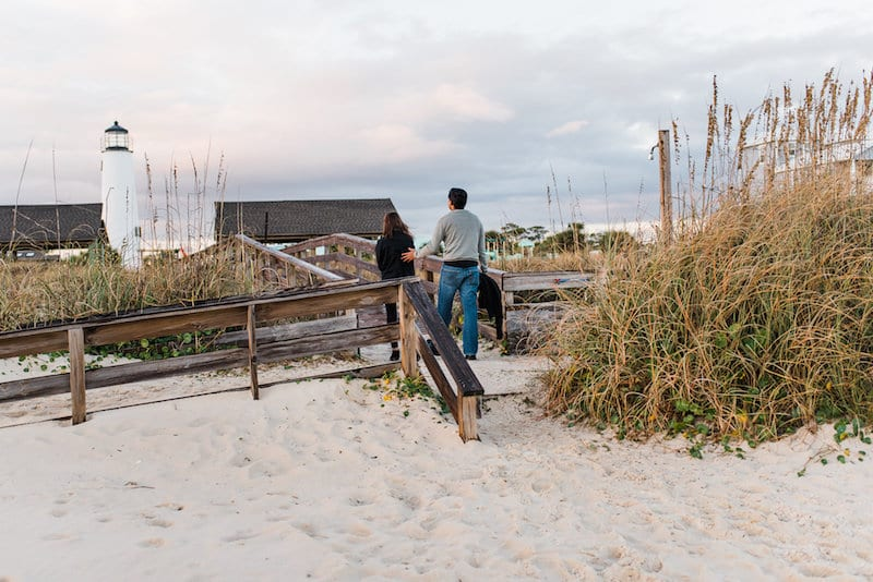 florida panhandle beach engagement