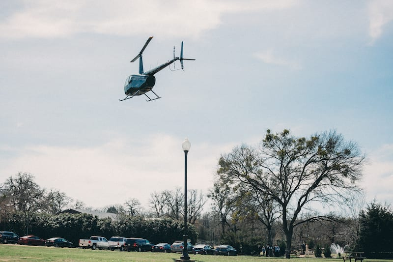 winery helicopter engagement in texas