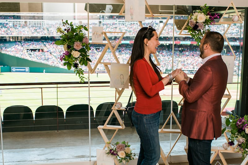 baseball stadium suite engagement