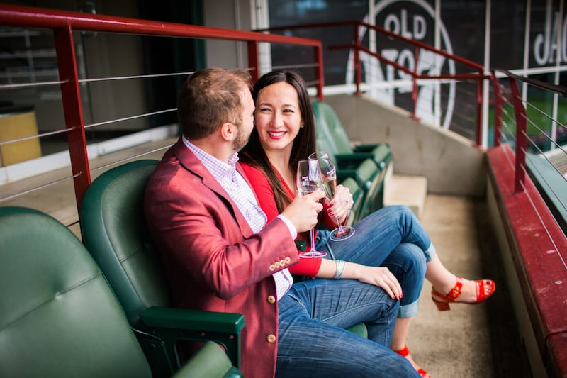 non-score board engagement at baseball game
