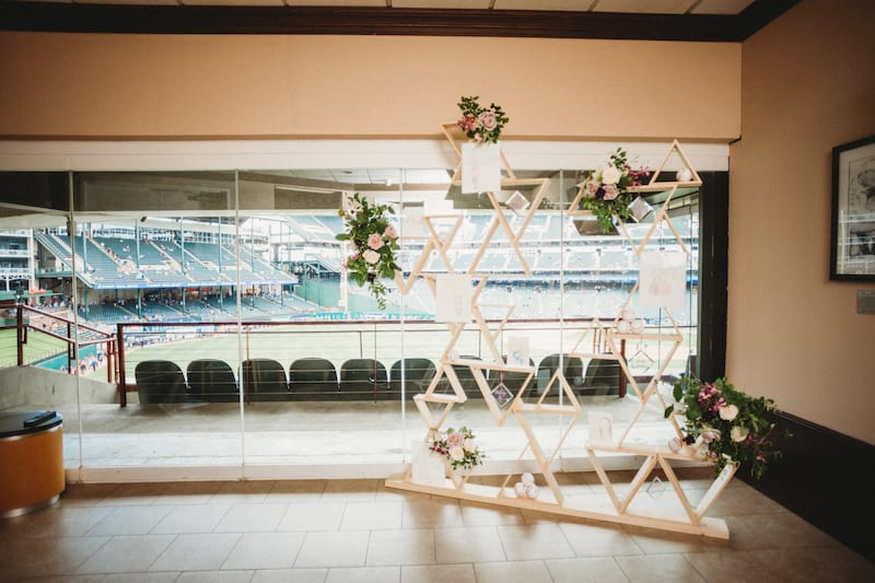 globe life park suite decorated for event