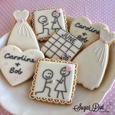 royal icing sugar engagement cookies