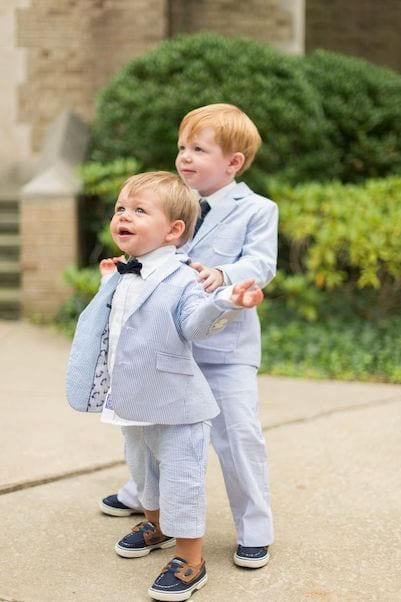 blue and white suits for ring bearers