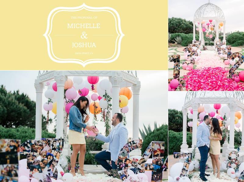 Proposal in beachside garden