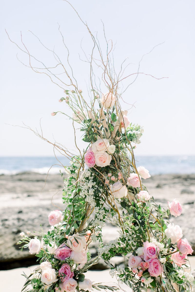 Laguna Beach Floral Tee Pee Proposal