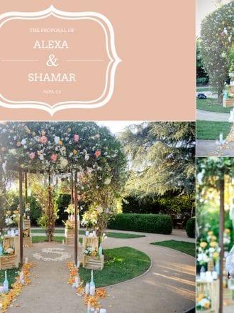 Private Garden Area for Proposal in Napa