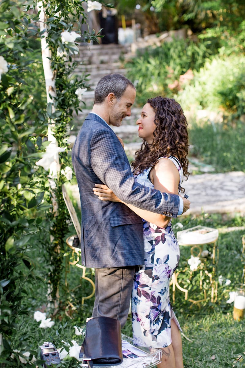 couple with surprise engagement