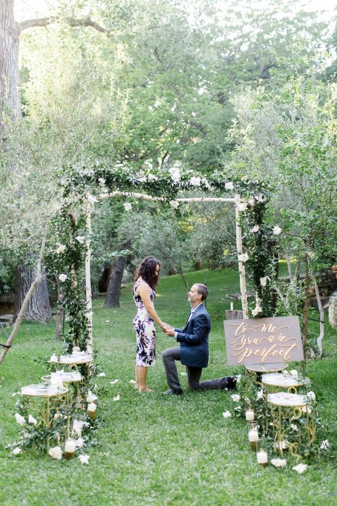 photos of man reading his marriage proposal speech