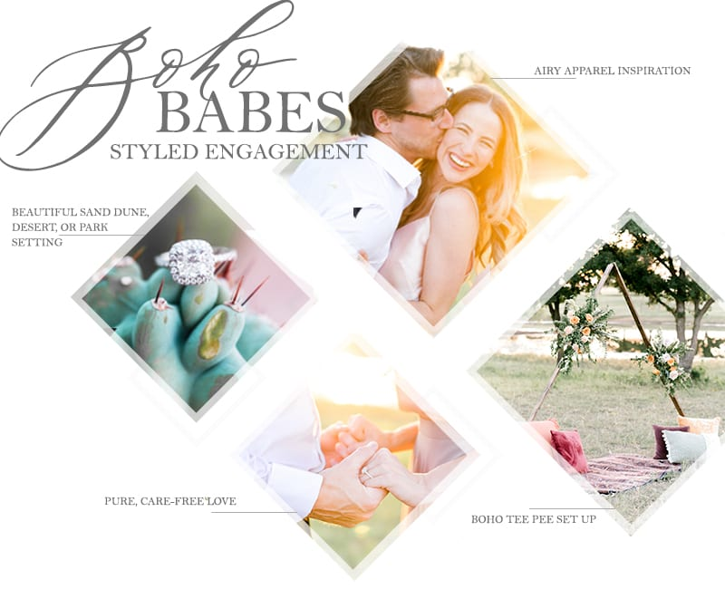 BOHOBABES desert park boho styled engagement shoot by the yes girls