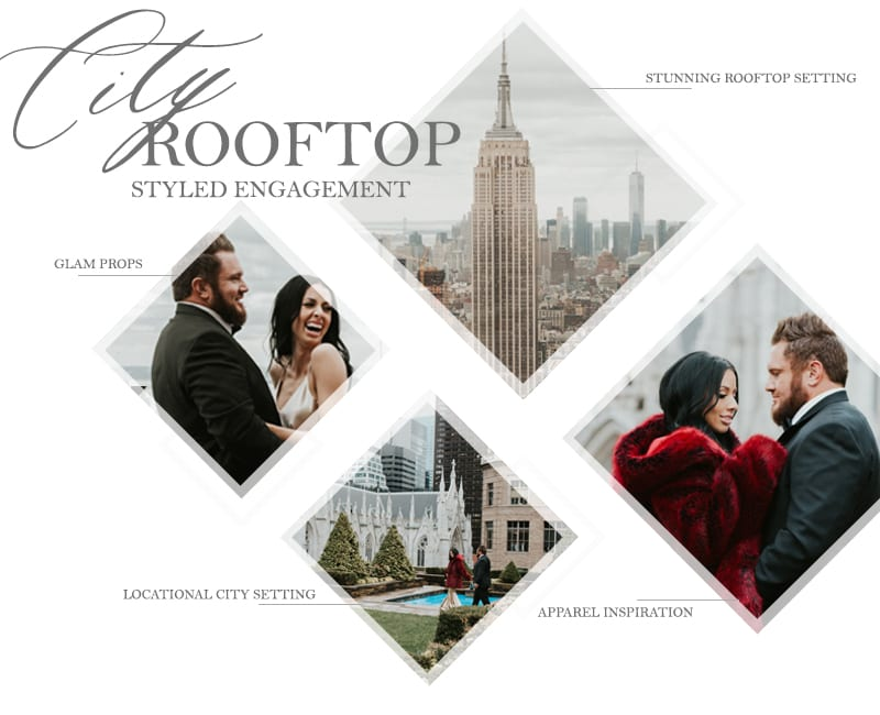 CITY ROOFTOP Styled engagement shoot by the yes girls