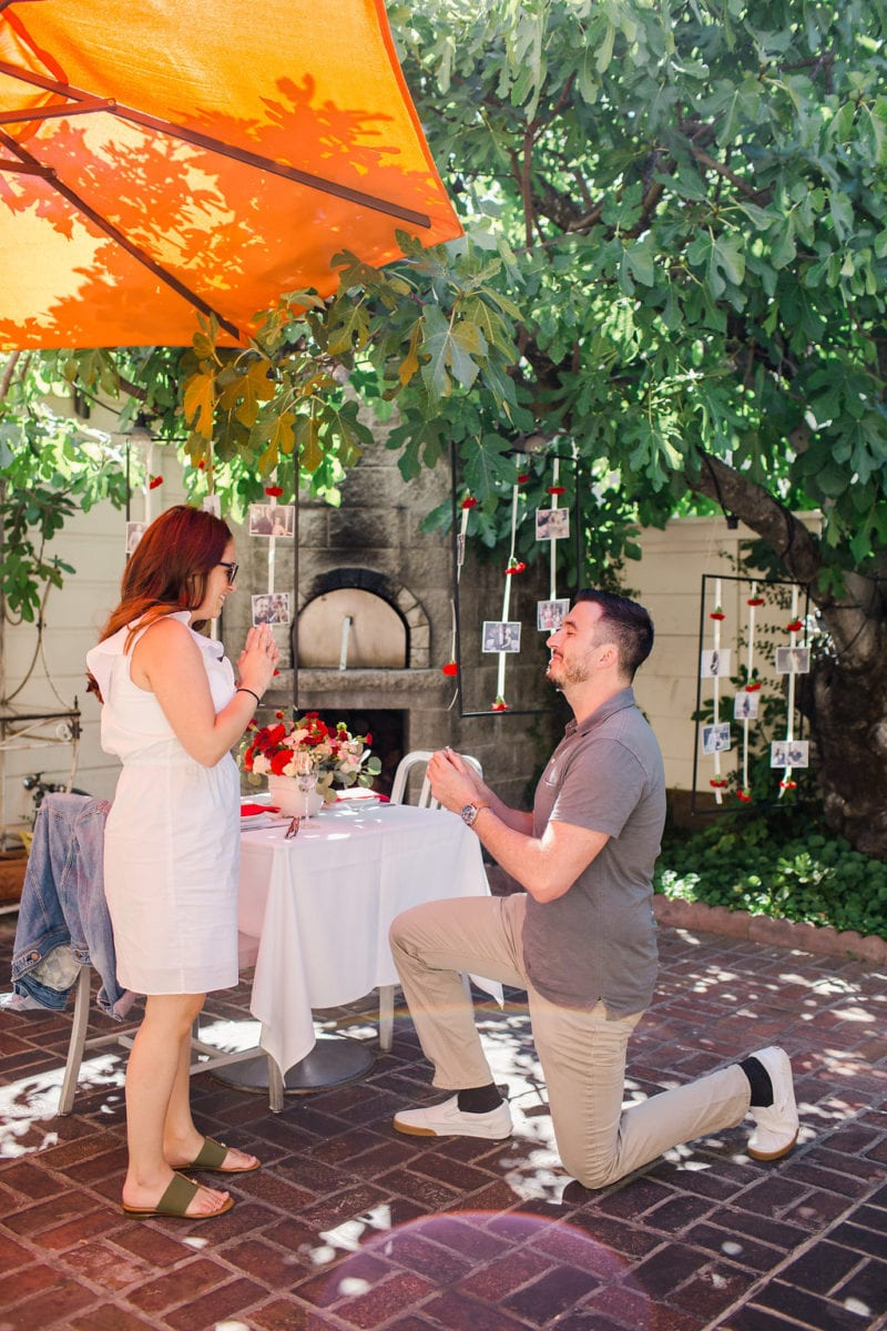 Vintage diner proposal in napa