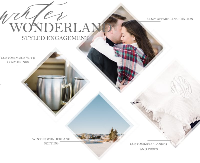 WINTER WONDERLAND Inspired Styled Engagement Shoot by the yes girls