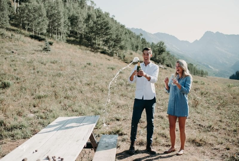 Mountain and canoe proposal in Vail