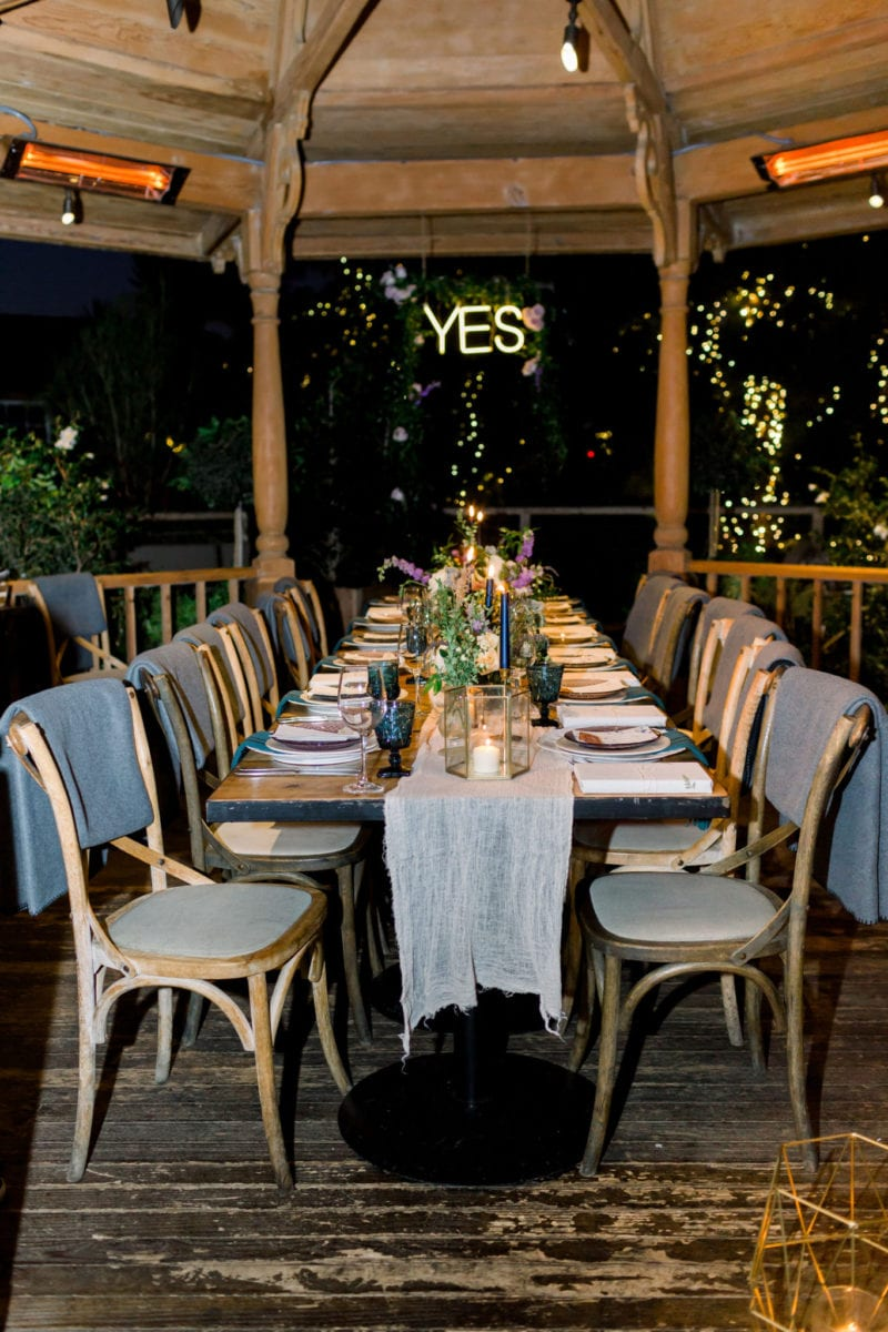 The Yes Girls dinner party at Rogers Gardens