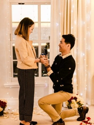 string lights proposal in santa monica