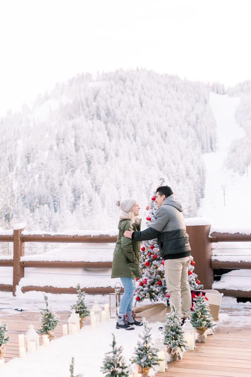 Winter proposal in deer valley utah