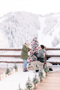 Oscar and Kyra Okbaby Winter marriage proposal in deer valley utah