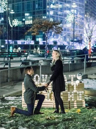 christmas proposal in salt lake city utah