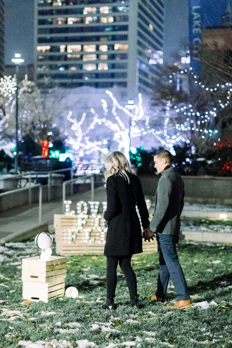 christmas proposal in salt lake city utah