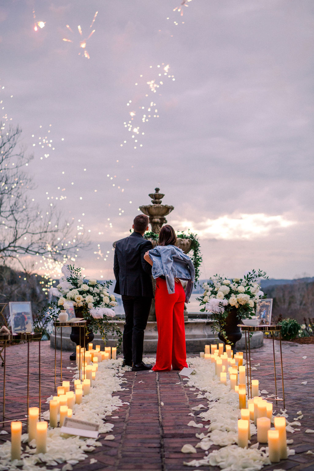 fireworks wedding proposal missouri