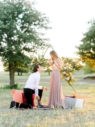 styled shoot engagements in dallas