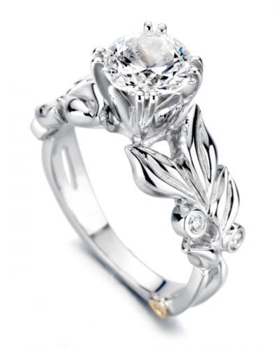 a667835e0 Flora Floral Engagement Ring