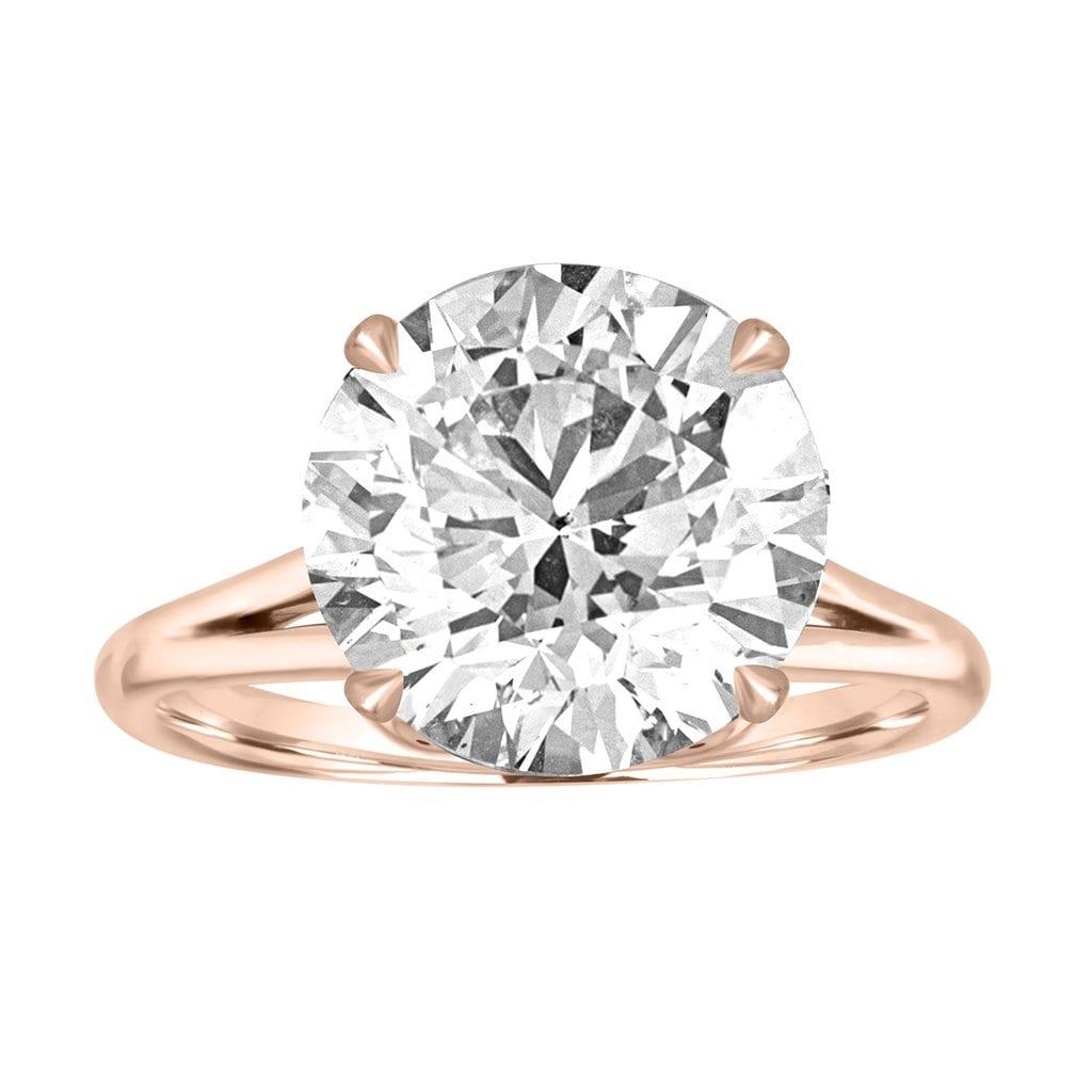 f1f273ab6 Gold Split Shank Engagement Ring with Sunken Flower Detail