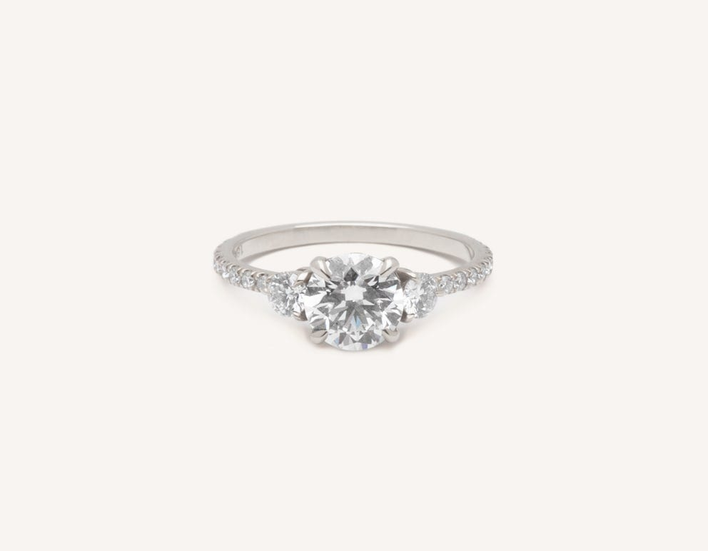c4aba8454 The 6-prong Solitaire engagement ring is our updated take on a classic  style. Featuring a round brilliant diamond, the 58 facets of this cut  accentuate a ...