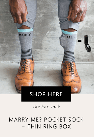 Box Sock pocket sock that hides your engagement ring box