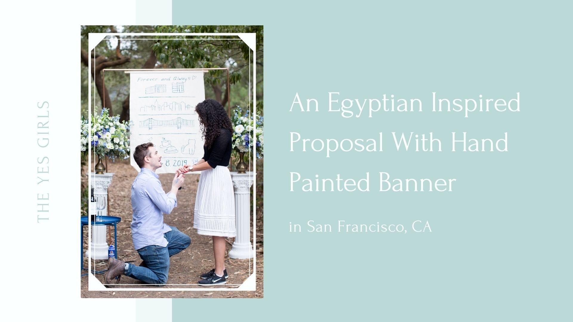 Man proposing in san francisco