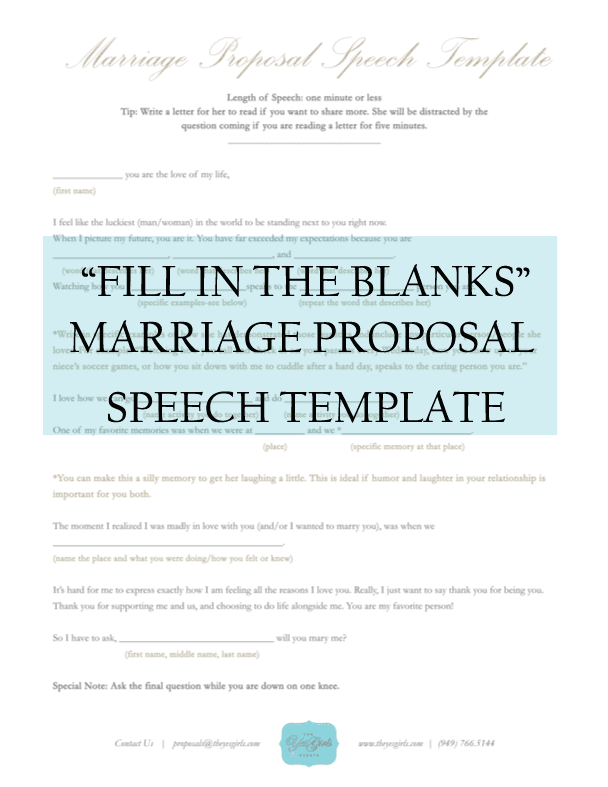 How to write a speech proposal