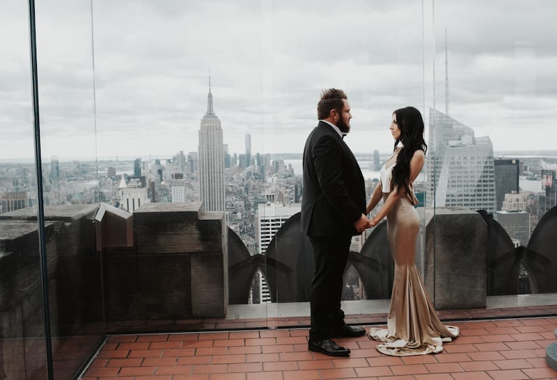 New York Rooftop Proposal with Empire State view