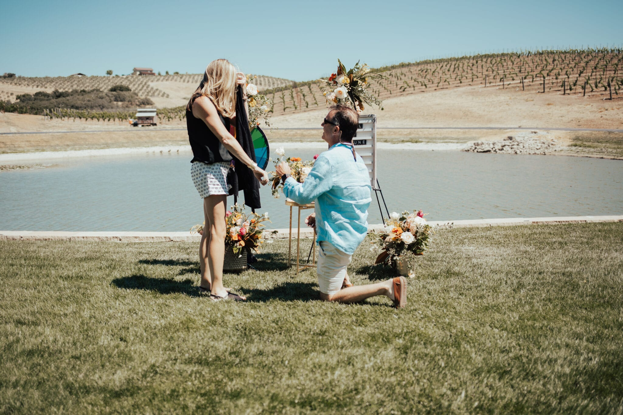man proposing in paso robles, ca