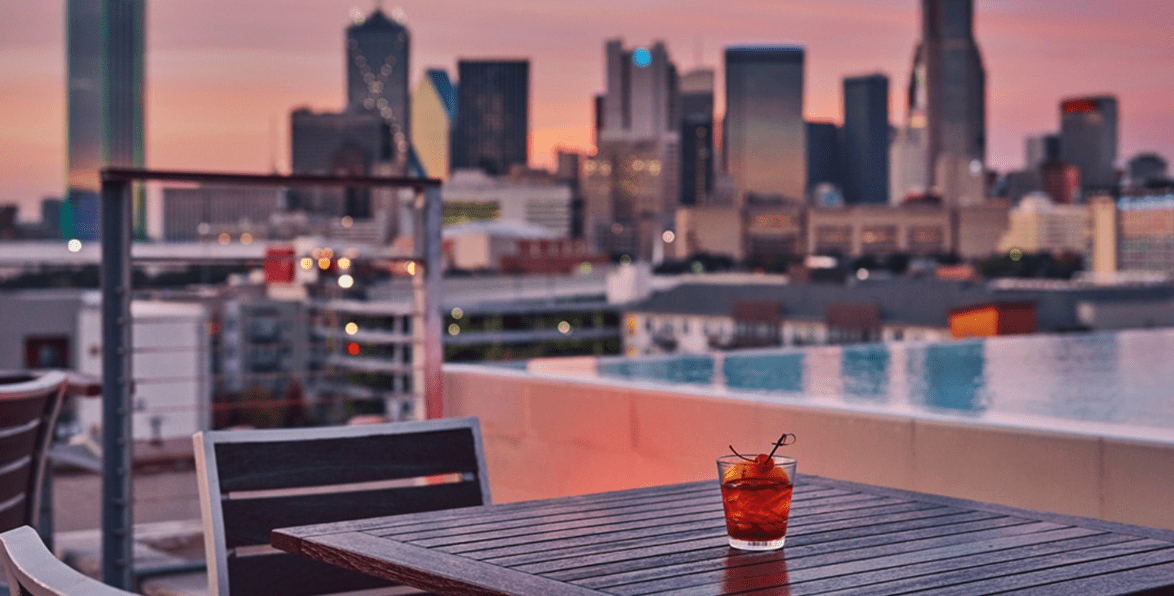 Rooftop bar for proposal in Dallas texas