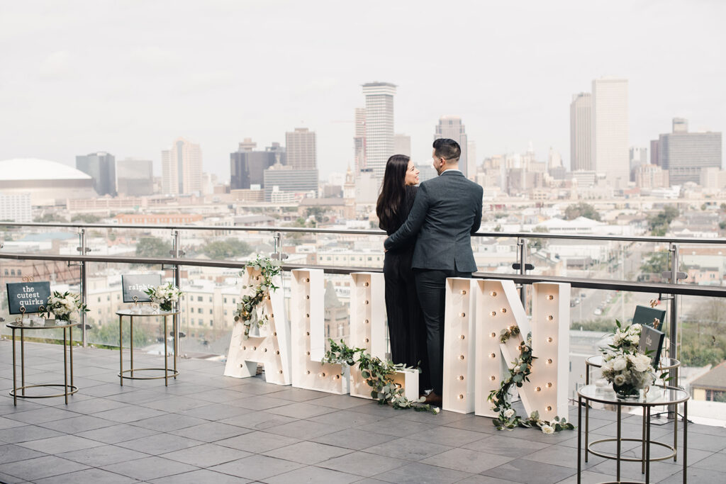 Rooftop proposal in New Orleans