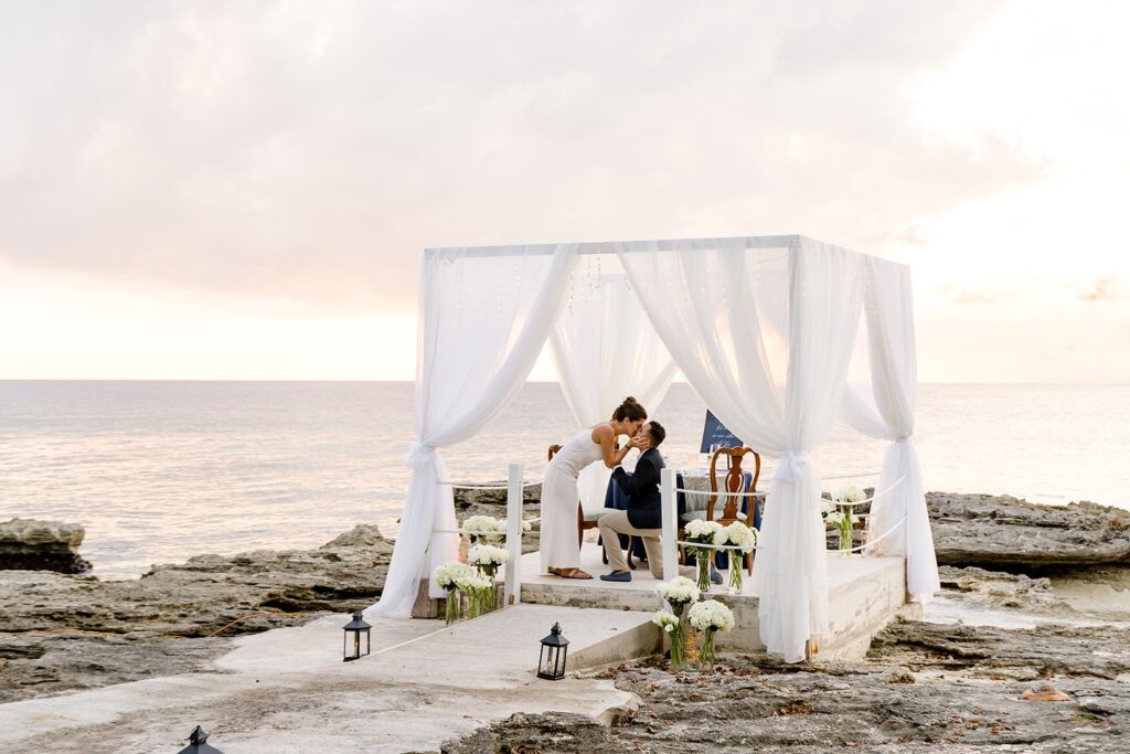 luxury marriage proposal in grand caymans by the yes girls