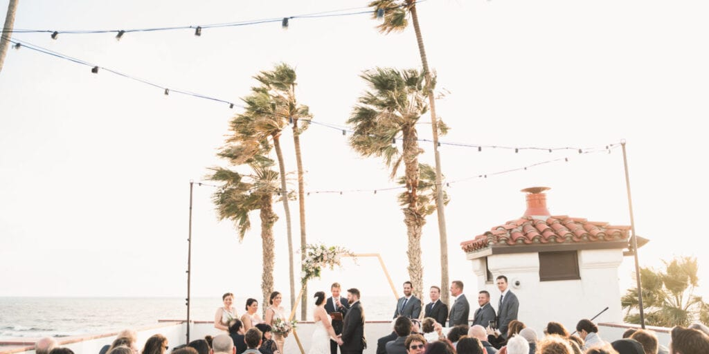Rooftop wedding in Orange County, CA