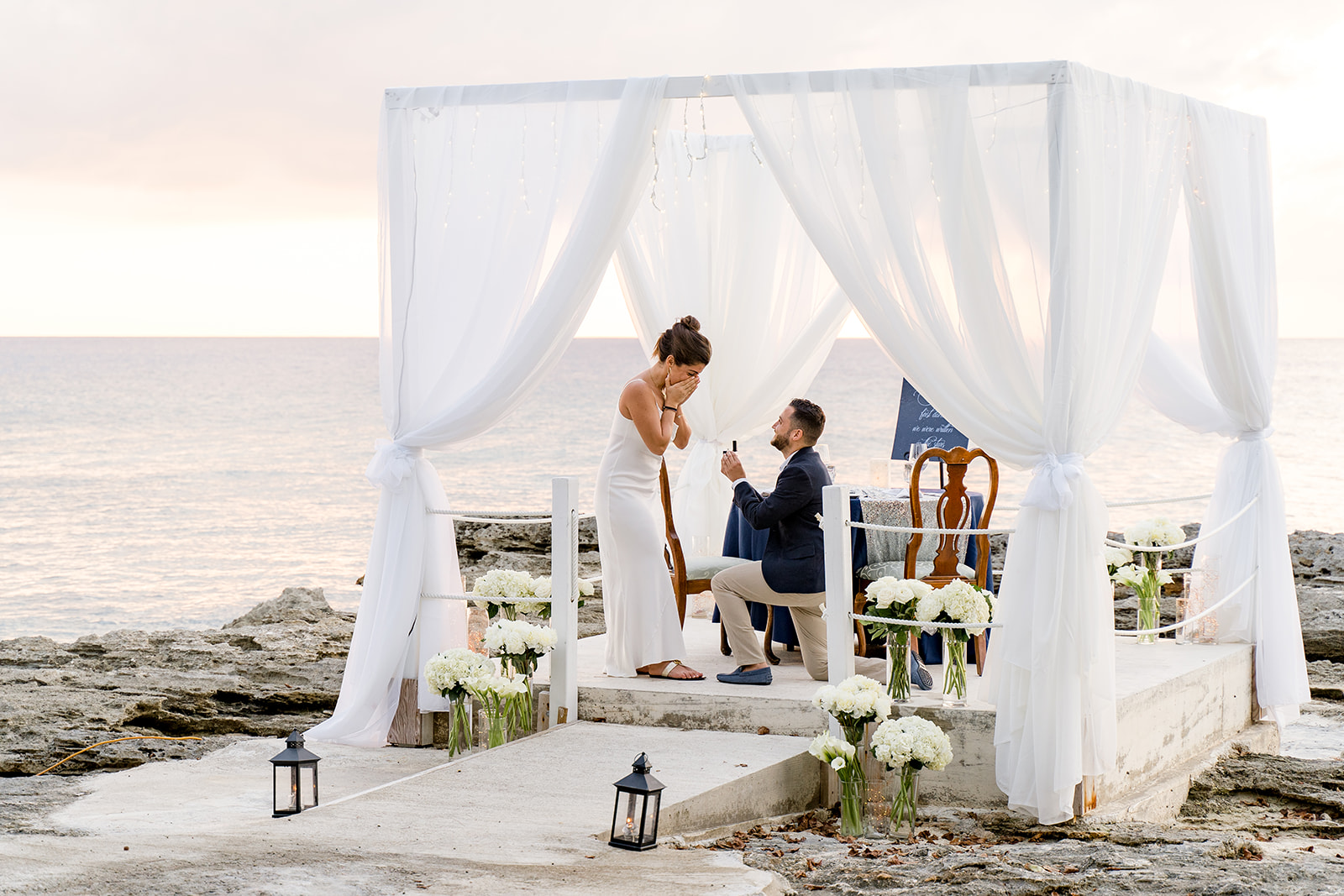 wedding proposal planning grand cayman by the yes girls