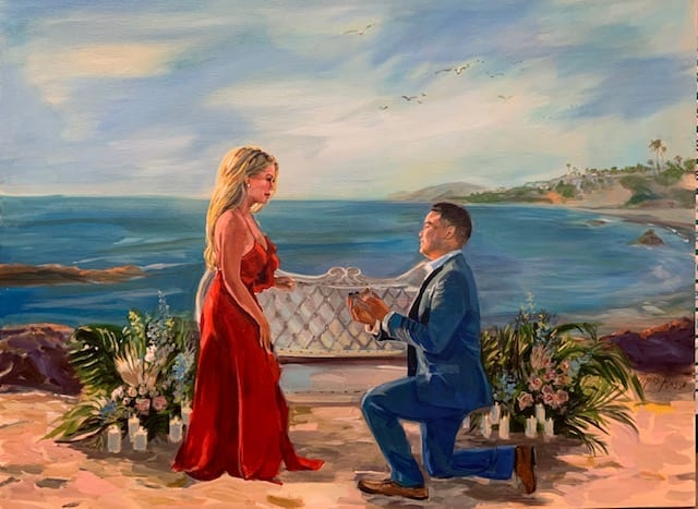 Painting of Proposal by Agnes Russo
