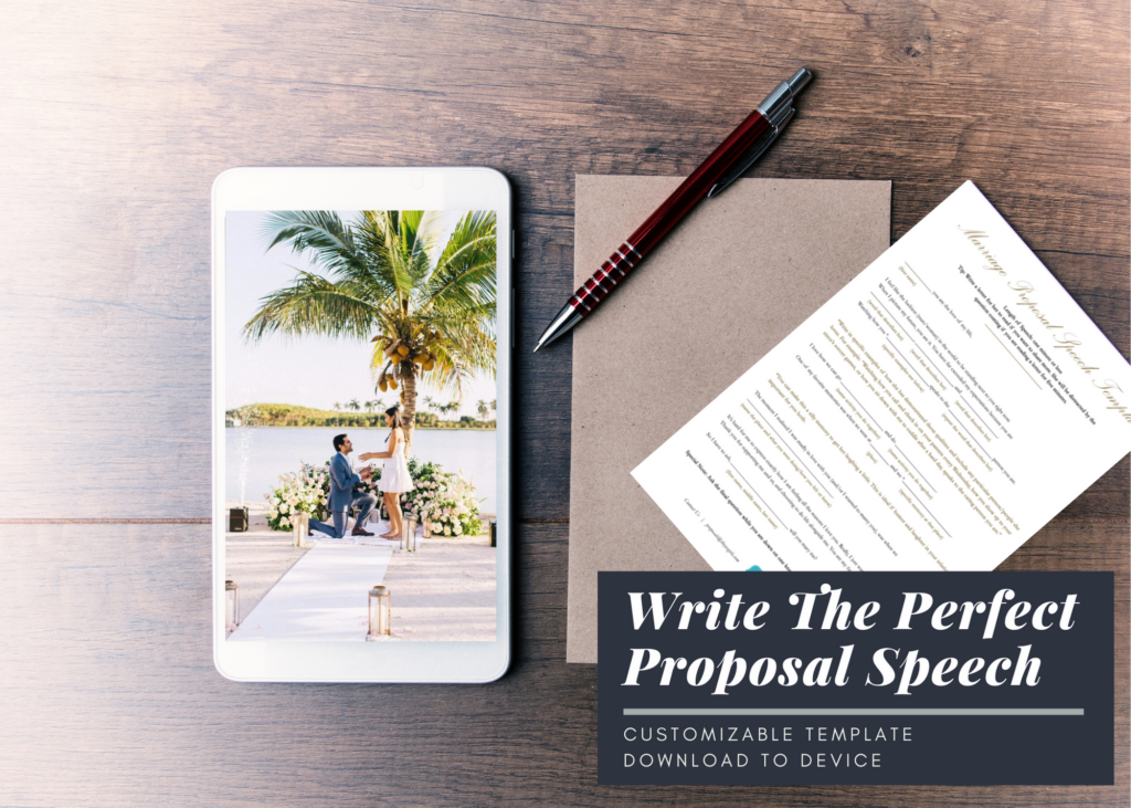 How To Write The Perfect Proposal Speech Template
