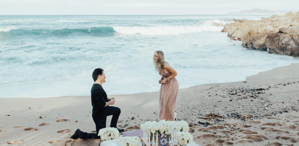 private beach marriage proposal