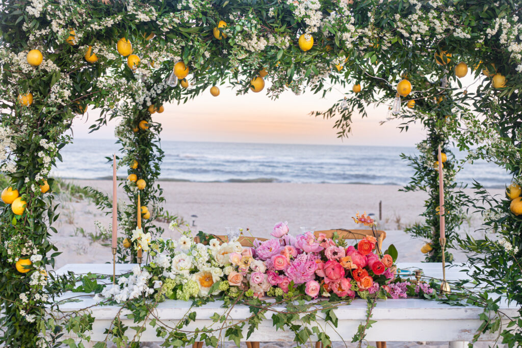 Ombre flowers private beach in the hamptons