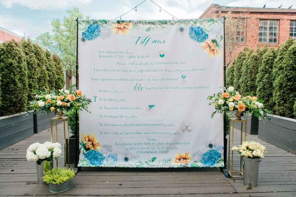 Backdrop with Flowers