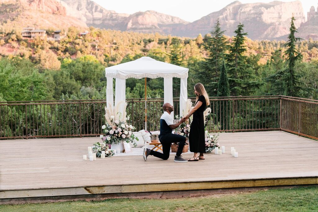 Sedona Marriage Proposal by the yes girls