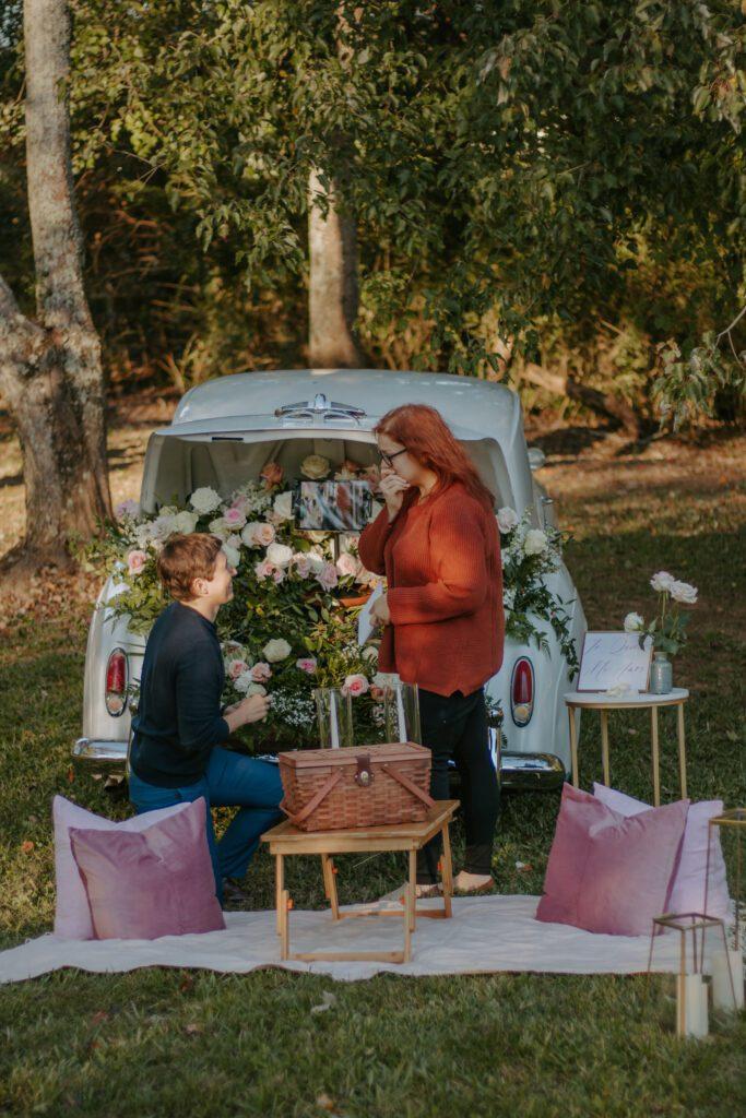 Drive-In Picnic Proposal- Roopville, Georgia
