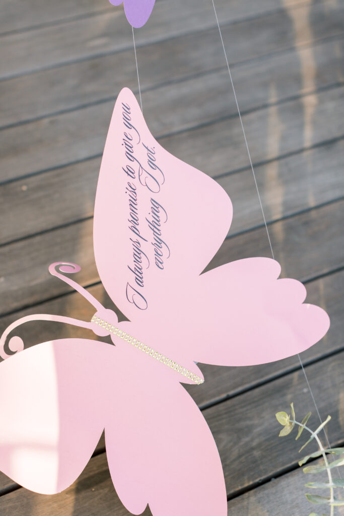 butterfly decor with quote